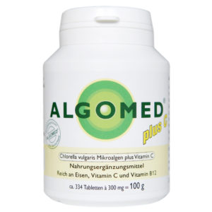 ALGOMED® plus C Tabletten 100g, aus Chlorella vulgaris Mikroalgen und Vitamin C